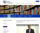 Common Core State Standards: Principles of Development