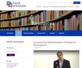 Common Core State Standards: Principles of Development