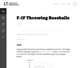 Throwing Baseballs