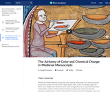 The Alchemy of Color and Chemical Change in Medieval Manuscripts