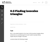 8.G Finding isosceles triangles