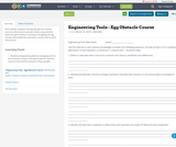 Engineering Tools - Egg Obstacle Course