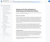 HE 220  - Intro: Epidemiology/Health Data Analysis Textbook