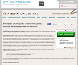 Motivation Challenge 6: Student Lacks a Positive Relationship with the Teacher