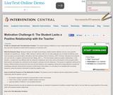 Motivation Challenge 6: Student Lacks a Positive Relationship with the Teacher