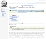 Module 7: Short-term Financing