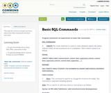 Basic SQL Commands