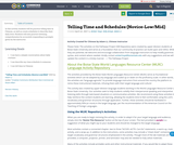 Telling Time and Schedules, Mandarin Chinese, Novice-Low/Mid - Remix