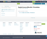 English Lesson (Moodle) - Friendship