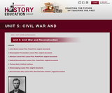 Reading Like a Historian, Unit 5: Civil War and Reconstruction