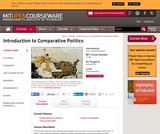 Introduction to Comparative Politics, Spring 2014