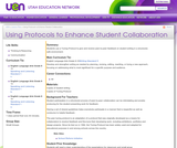Using Protocols to Enhance Student Collaboration