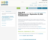 Title IV-E SOP Resources -  September 21, 2016 Collaborative