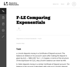 Comparing Exponentials