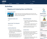 Mapping and Analyzing Race and Ethnicity
