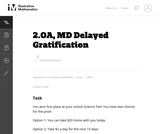 MD Delayed Gratification