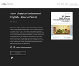 Adult Literacy Fundamental English - Course Pack 6