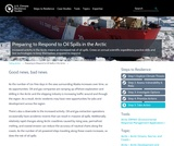 Preparing to Respond to Oil Spills in the Arctic