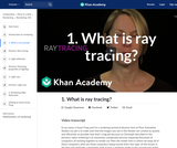 1. What is ray tracing?