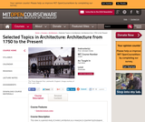 Selected Topics in Architecture: Architecture from 1750 to the Present, Fall 2004