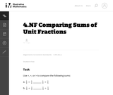 Comparing Sums of Unit Fractions