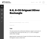 8.G, G-CO Origami Silver Rectangle