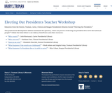 Electing Our Presidents Teacher Workshop