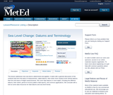 Sea Level Change: Datums and Terminology