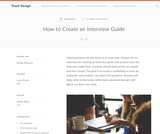 Teach Design: How to Create an Interview Guide