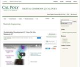 Sustainable Development 2: How Do We Measure It?