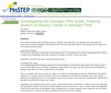 Investigating the Geologic Time Scale: Creating Posters to Display Trends in Geologic Time