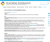 Do's and Don'ts of Teaching Black History