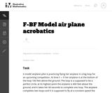 F-BF Model air plane acrobatics