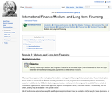 Module 8: Medium- and Long-term Financing