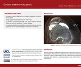 OER-UCLouvain: Douleur antérieure du genou