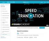 Translating speed units