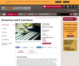 Economics and E-commerce, Fall 2014