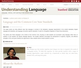 Language and the Common Core State Standards