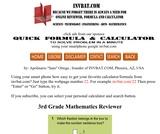 3rd Grade Math Assessment Reviewer