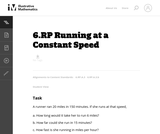 Running at a Constant Speed