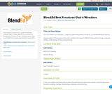 BlendEd Best Practices-Unit 4 Wonders