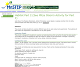 Habitat Part 2 (See Mitze Olson's Activity for Part 1)