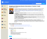 Designing and Delivering Intensive Interventions: A Teacher's Toolkit