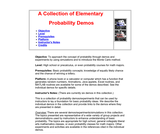A Collection of Elementary Probability Demos