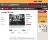 History of Science, Fall 2005