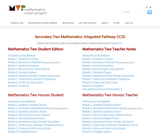 Secondary Two Mathematics: Integrated Pathway CCSS