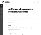 Lines of Symmetry For Quadrilaterals