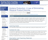 Airplane Production: A Law of Diminishing Marginal Product Exercise