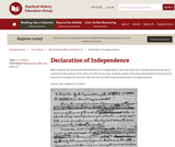 Reading Like a Historian: Declaration of Independence