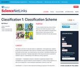 Classification 1: Classification Scheme